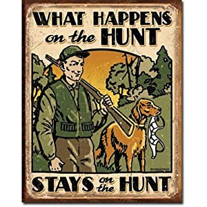 Amazon.com: What Happens On the Hunt Hunting Distressed ...