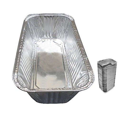 25 Pack 3 Lb Aluminum Foil Loaf Pan Disposable Bread Container Baking Tins New !