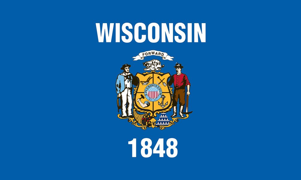 Georgia State Flag Coloring Page Wisconsin State Flag Coloring