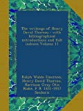 The writings of Henry David Thoreau : with bibliographical introductions and full indexes Volume 11