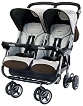Peg-Perego Aria Twin Stroller, Java