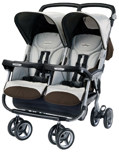 Peg-Perego Aria Twin Stroller, Java front-110359