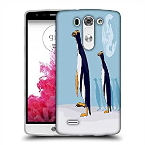 Snoogg yellow eyed penguin Designer Protective Back Case Cover For LG G3 BEAT