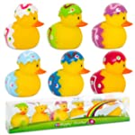 Happy Easter 6 Pack Rubber Bath Ducks...