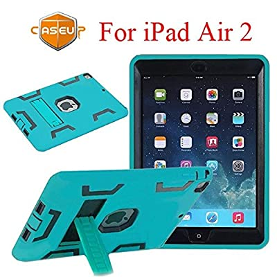 iPad Mini Case, iPad Mini 3 Case, CaseUp Hybrid Series - [Shockproof][Drop Protection][Heavy Duty] Rugged Three-Layer Defender Case Cover With Stand For iPad Mini 1/2/3 (Retina Display) by CaseUp