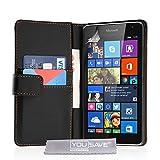 Yousave Accessories Microsoft Lumia 535 Tasche Schwarz PU