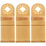 3 x Saxton 35mm Parte Finale Carburo Taglio Lama Fein Multimaster Bosch Makita Multi Attrezzo Oscillante