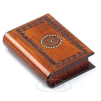 Book Style Wood Puzzle Box Polish Handmade Secret Trick Wooden Box Jewelry Box