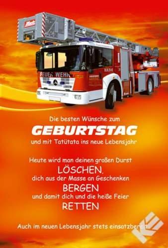 Feuerwehr Geburtstagskarte: Amazon.de: Küche -amp; Haushalt