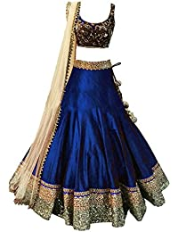 Sky Global Girl'S Banglori Silk With Traditional Unstitched Party Wear Lehenga Choli(SKY_LEHENGA-8109)