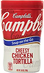 Campbell\'s Soup on the Go, Cheesy Chicken Tortilla, 10.9 Ounce (Pack of 8)