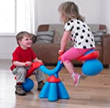 Soft Cushion Ball Spiro Bouncer and See-Saw - Red/Blue (2+ Years)