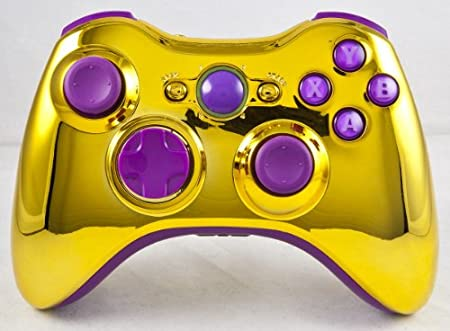 Gold/Purple Xbox 360 Modded Controller (Rapid Fire) COD MW3, Black Ops 2, MW2, MOD GAMEPAD