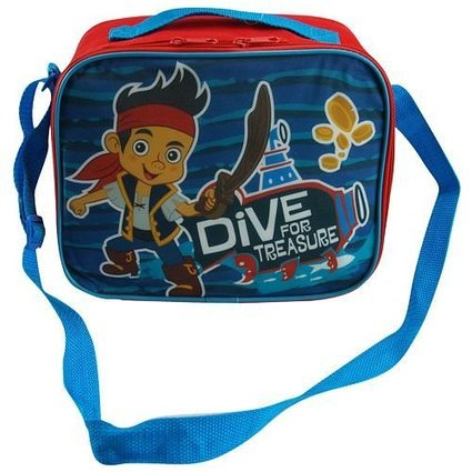 Disney Jake Rectangle Lunch Bag with Strap and Microsilk Printing