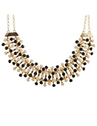 Mask Fashions Gold Metal White Beads Necklace For Women