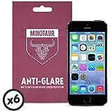 Minotaur Apple iPhone 5/5S/5C Screen Protector Pack: Matte Anti Glare (6 Screen Protectors)