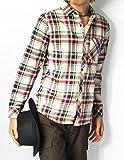 (リピード) REPIDO チェックシャツ メンズ シャツ 長袖 カジュアル ネルシャツ ワークシャツ 長袖シャツ カジュアルシャツ 3/WHITE系 L