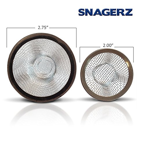 SNAGERZ Bathroom Drain Hair Stopper Strainers Bathtub And