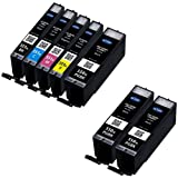 3x Canon PGi-550XL Black and 1x CLi-551XL Black, Cyan, Magenta and Yellow Compatible High Capacity Printer Ink Cartridges For use with Canon PIXMA MG5450 MG5550 Printers by Ink Trader