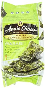 Annie Chun's Seaweed Snacks, Roasted Wasabi, 0.35-Ounce Packages (Pack of 12)