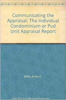 Appraisal Report Individual Condominium Unit Appraisal Report