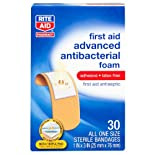Rite Aid Advanced Antibacterial Foam Bandages, 1x3 IN, 30ct