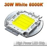 Hontiey High Power LED Chip 30W Pure White Light 6000K-6500K Bulbs 30 Watt Beads DIY Spotlights Floodlight COB Integration Lamp SMD