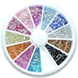 1200 2mm Round Premium Quality Shiny Nail Art Rhinestone Wheel Kit