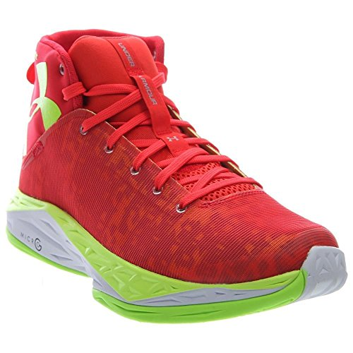 UNDER ARMOUR - SCARPA DA BASKET UNDER ARMOUR FIRE SHOT SHARP SHOOTER BIANCO ARANCIONE GIALLO - ARANCIONE, 11.5 US