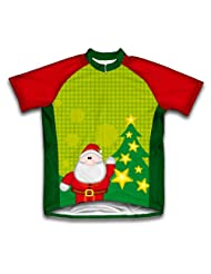 Christmas Santa Short Sleeve Cycling Jersey for Women