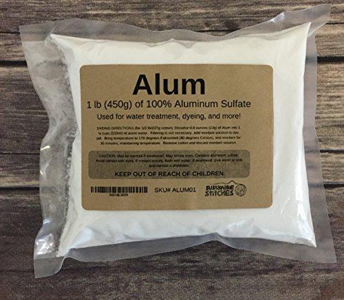 Alum Mordant - Aluminum Sulfate - 1 Pound