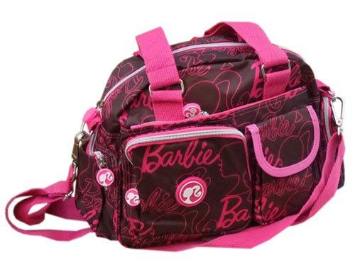 バービー Barbie ミニボストンバッグ ブラウン8935【キャラクター グッズ 輸入 インポート 雑貨】