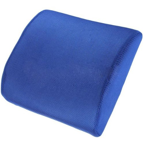 High Resilient Memory Foam Blue Seat Back Pain Support Cushion