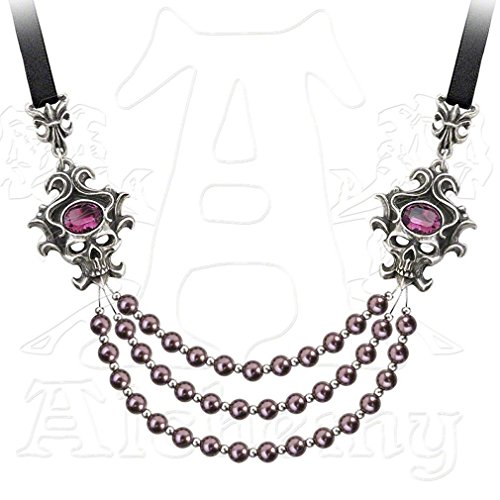 The Palatine Pearls Of The Underworld Pewter Necklace