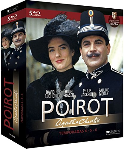 Agatha Christie's - Poirot (Season 4-6) - 5-Disc Box Set ( Agatha Christie: Poirot The ABC Murders / Death in the Clouds / One, Two, Buckle My Shoe / The Adventur [ Blu-Ray, Reg.A/B/C Import - Spain ]