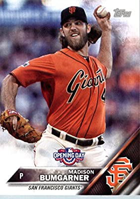 2016 Topps Opening Day #OD-91 Madison Bumgarner San Francisco Giants Baseball Card