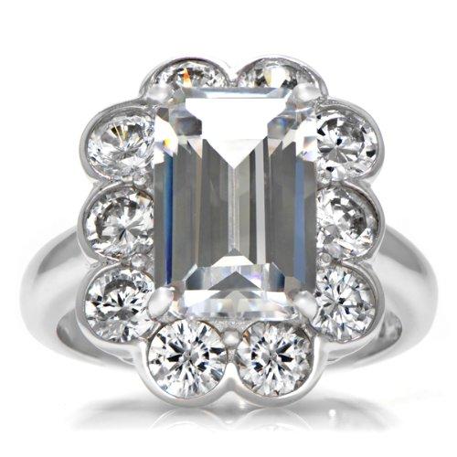 Celebrity Star Emitations Lola's Vintage Style Wedding Ring Set Size 9