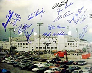 Chicago White Sox Comiskey Park autographed photo signed by 14 Kittle, Wilhelm,...