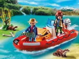 PLAYMOBIL Inflatable Boat with Explorers Building Kit