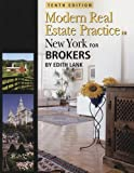 New York Modern Real Estate Practice for Brokers (Modern Real Estate Practice in New York For Brokers)