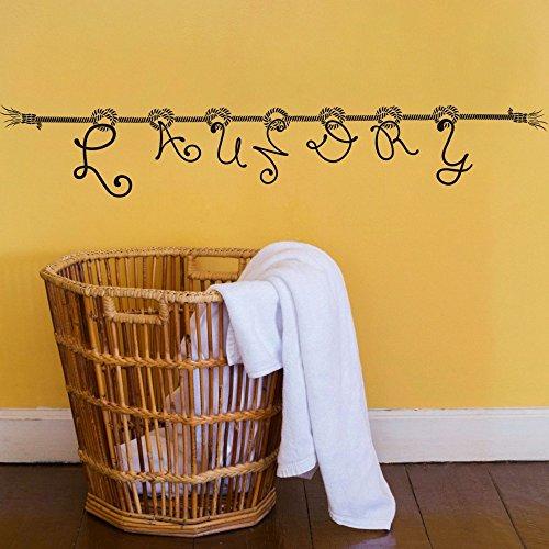 laundry-wscheleine-sign-decorazione-da-parete-vinile-arte-home-adesivi-per-parete-soggiorno-vinilico