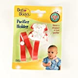 Baby Buddy Bear Pacifier Holder, Red, 1-Pack