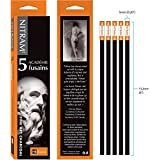 Nitram Academie Fusains Fine Art Charcoal HB box of 5 (Color: Black, Tamaño: 5 mm)
