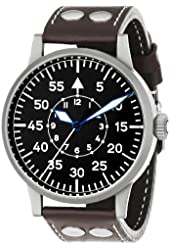 Laco / 1925 Men's 861751 Laco 1925 Pilot Classic Stainless Steel Mechanical Watch with Brown Leather Band