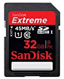SanDisk Extreme 32 GB SDHC Class 10 UHS-1 Flash Memory Card 45MB/s (SDSDX-032G-X46)