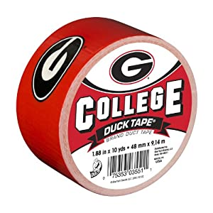 Duck Brand 240073 University of Georgia College Logo Duct Tape, 1.88-Inch by 10 Yards, Single Roll