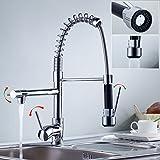 Auralum® Mitigeur Chromé évier Eurostyle Robinet de cuisine avec robinet mitigeur pour lavabo