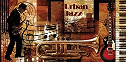 36W x 18H Urban Jazz by Paul Robert - Stretched Canvas w/ BRUSHSTROKES
