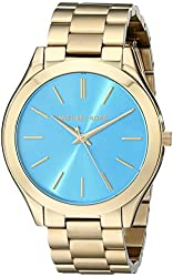 Michael Kors MK3265 Women's Slim Runway Gold-Tone Stainless Steel Bracelet Watch