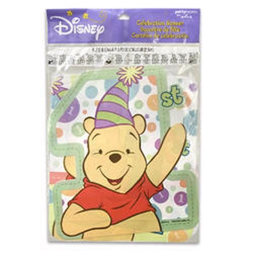 Winnie the Pooh 1st Birthday Party Jointed Banner